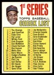 1967 Topps #62 T  -  Frank Robinson Checklist 1 Front Thumbnail