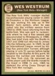 1967 Topps #593  Wes Westrum  Back Thumbnail
