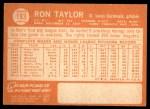1964 Topps #183  Ron Taylor  Back Thumbnail