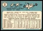 1965 Topps #38  Jim King  Back Thumbnail