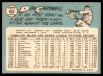 1965 Topps #502  Don Cardwell  Back Thumbnail