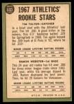 1967 Topps #603   -  Tim Talton / Ramon Webster Athletics Rookies Back Thumbnail
