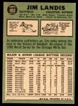 1967 Topps #483  Jim Landis  Back Thumbnail
