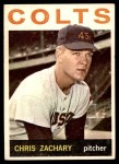1964 Topps #23  Chris Zachary  Front Thumbnail