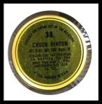1964 Topps Coins #38   Chuck Hinton   Back Thumbnail