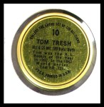 1964 Topps Coins #10  Tom Tresh  Back Thumbnail