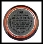 1964 Topps Coins #141   -   Bill White All-Star Back Thumbnail