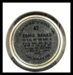 1964 Topps Coins #42   Ernie Banks   Back Thumbnail