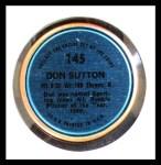 1971 Topps Coins #145  Don Sutton  Back Thumbnail