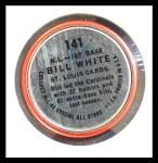 1964 Topps Coins #141   -   Bill White All-Star Back Thumbnail