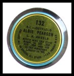1964 Topps Coins #132   -   Albie Pearson All-Star Back Thumbnail