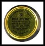1964 Topps Coins #12   Dick Stuart   Back Thumbnail