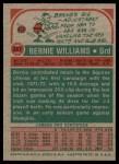1973 Topps #257  Bernie Williams  Back Thumbnail