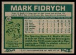 1977 Topps #265  Mark Fidrych  Back Thumbnail