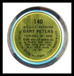 1964 Topps Coins #140   -   Gary Peters All-Star Back Thumbnail