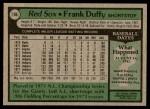 1979 Topps #106  Frank Duffy  Back Thumbnail
