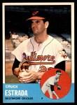 1963 Topps #465  Chuck Estrada  Front Thumbnail