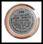 1964 Topps Coins #146   -   Ron Santo All-Star Back Thumbnail