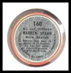 1964 Topps Coins #160   -   Warren Spahn All-Star Back Thumbnail