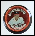1964 Topps Coins #160   -   Warren Spahn All-Star Front Thumbnail