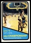 1972 Topps #155   NBA Playoffs - Game #2 Front Thumbnail