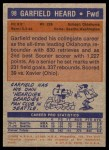 1972 Topps #98  Garfield Heard   Back Thumbnail