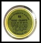 1964 Topps Coins #46   Rocky Colavito   Back Thumbnail