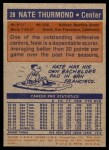 1972 Topps #28  Nate Thurmond   Back Thumbnail
