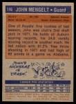 1972 Topps #146  John Mengelt   Back Thumbnail
