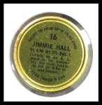 1964 Topps Coins #16  Jimmie Hall  Back Thumbnail