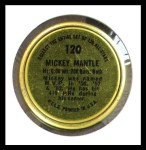 1964 Topps Coins #120   Mickey Mantle   Back Thumbnail