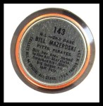 1964 Topps Coins #143   -   Bill Mazeroski All-Star Back Thumbnail