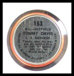 1964 Topps Coins #153   -  Tommy Davis All-Star Back Thumbnail