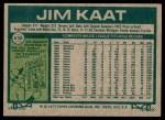 1977 Topps #638  Jim Kaat  Back Thumbnail
