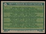 1977 Topps #474   -  Bob Bailor / Craig Reynolds / Kiko Garcia / Alex Taveras Rookie Shortstops   Back Thumbnail