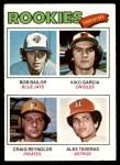 1977 Topps #474   -  Bob Bailor / Craig Reynolds / Kiko Garcia / Alex Taveras Rookie Shortstops   Front Thumbnail