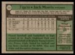 1979 Topps #251  Jack Morris  Back Thumbnail