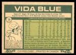 1977 O-Pee-Chee #75  Vida Blue  Back Thumbnail