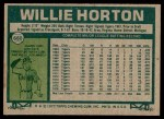 1977 Topps #660  Willie Horton  Back Thumbnail
