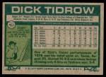 1977 Topps #461  Dick Tidrow  Back Thumbnail
