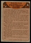 1974 Topps  Checklist   New Orleans Saints Team Back Thumbnail