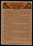 1974 Topps  Checklist   Washington Redskins Team Back Thumbnail