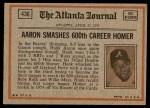 1972 Topps #436   -  Reggie Jackson In Action Back Thumbnail