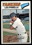 1977 Topps #96  Lou Piniella  Front Thumbnail