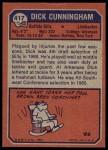 1973 Topps #417  Dick Cunningham  Back Thumbnail