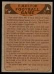 1974 Topps  Checklist   Cowboys Back Thumbnail