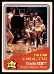 1972 Topps #258   -  Charlie Scott  ABA All-Star - 2nd Team Front Thumbnail