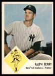 1963 Fleer #26  Ralph Terry  Front Thumbnail