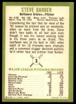 1963 Fleer #1  Steve Barber  Back Thumbnail