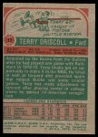1973 Topps #17  Terry Driscoll  Back Thumbnail